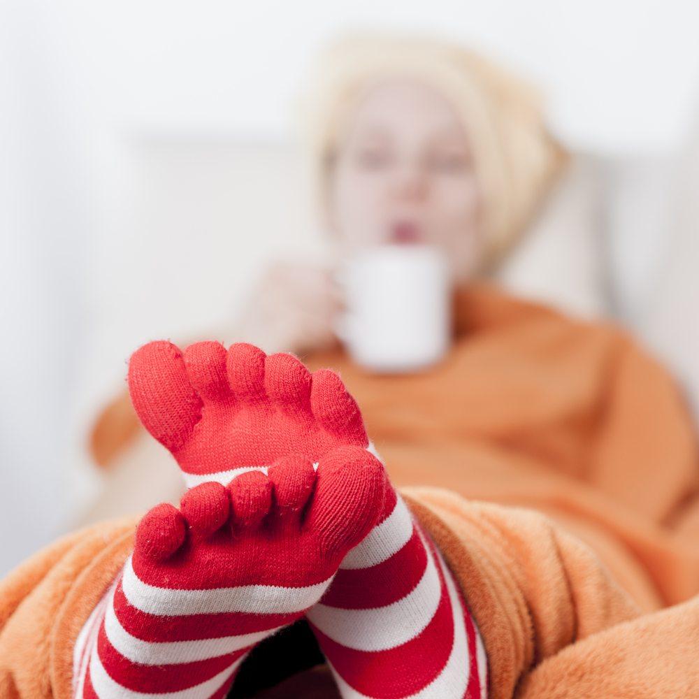 Femme aux pieds froids: que faire?