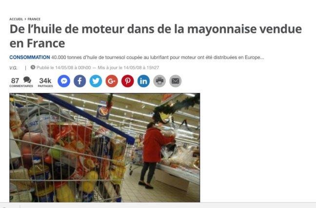 Privé: De la mayonnaise à l'huile de moteur automobile
