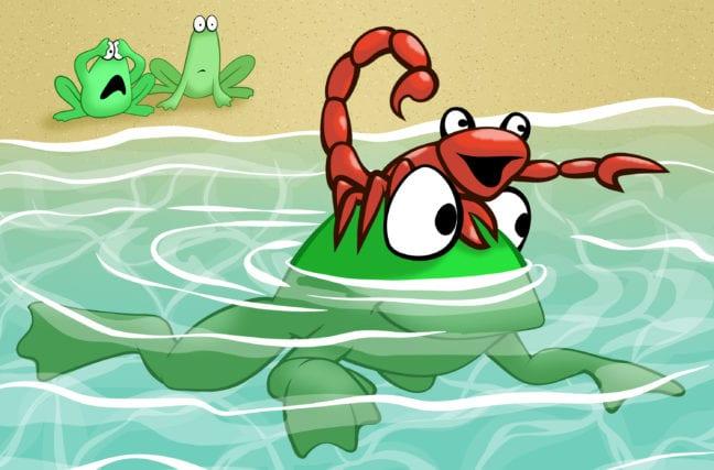 L'histoire de la grenouille et du scorpion
